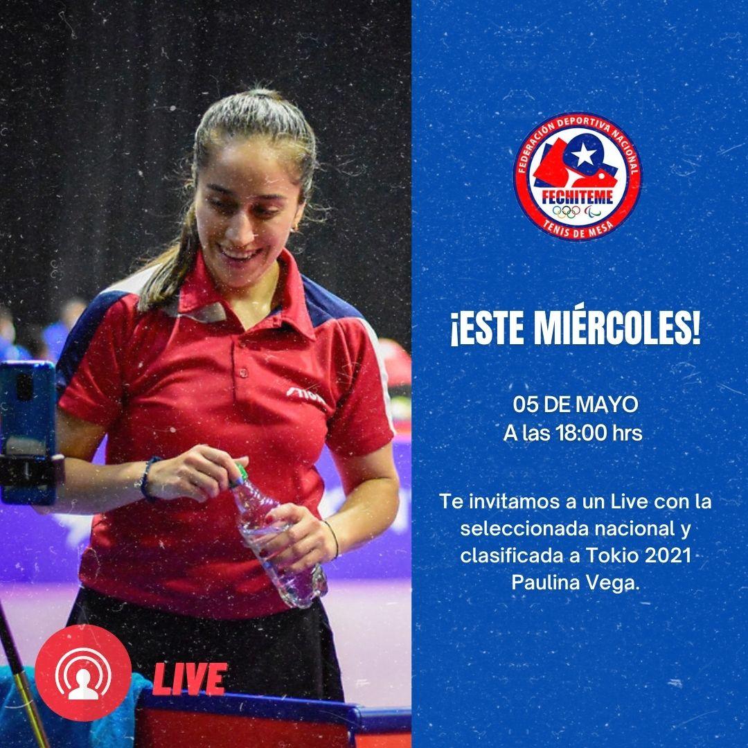 LIVE CON PAULINA VEGA, MIÉRCOLES 05 DE MAYO A LAS 18:00 HRS.