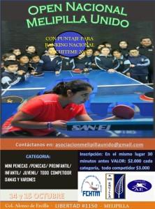 OPEN Nacional Melipilla Unido 2017 - AFICHE